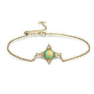 Opal Bracelet Unique Design Stering Silver Yellow